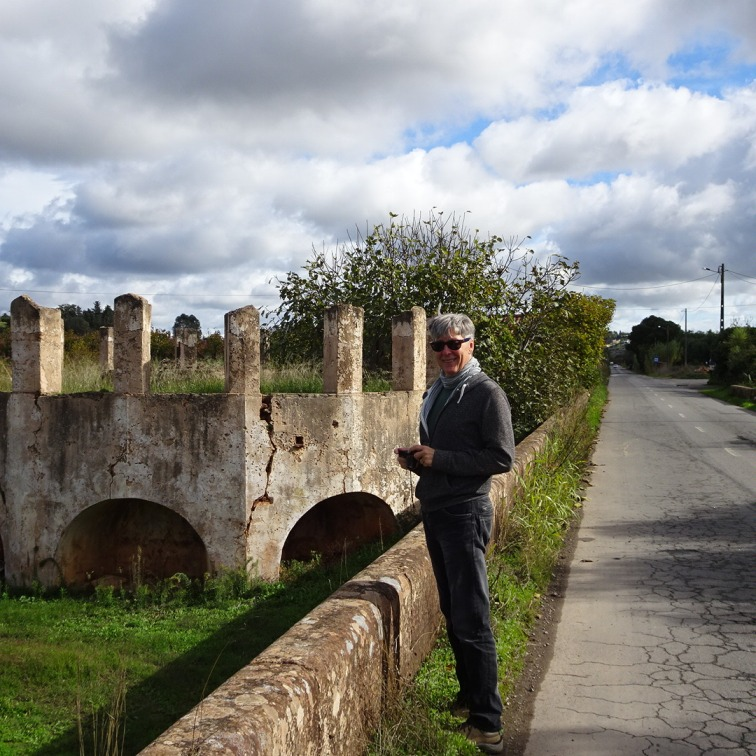 """Stopping to admire a gorgeous field of persimmons...Marc told me this was a photo of """"two old ruins""""!!"""
