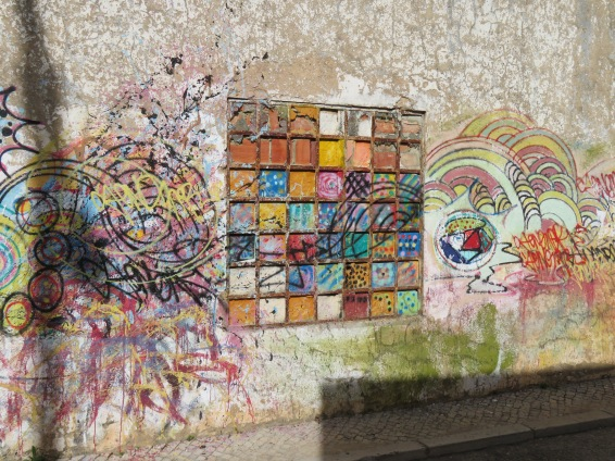 Creative graffiti in Sao Bras.