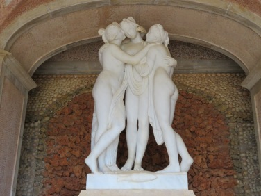 The Three Graces in the grotto at the Palace
