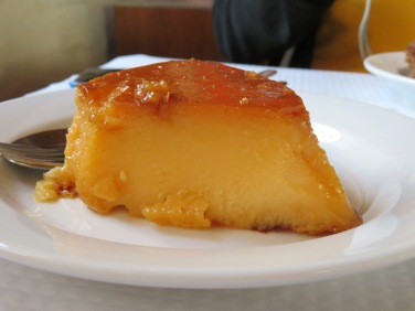 Portuguese flan...eggy and rich.