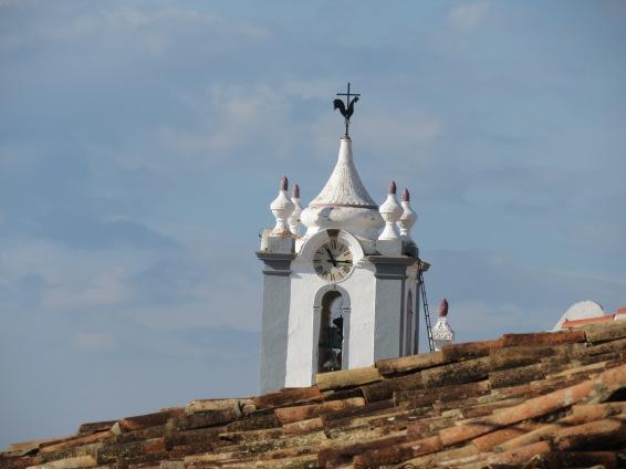 The steeple of the old church in Estoi, Igreja Matriz de Estoi