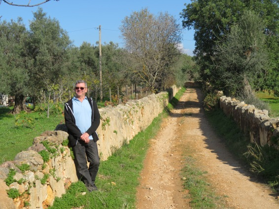 This is the wonderful lane we found that went on forever.......lined with ancient stone walls and still used from time to time by vehicles.