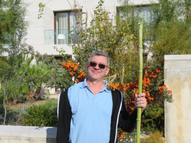 Walk softly and carry a big stick!!! Bamboo abounds.