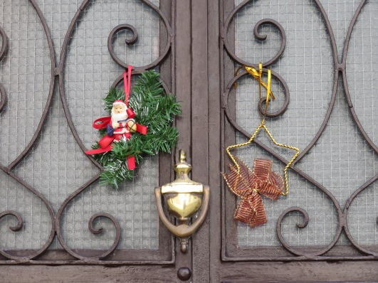More decorations on a family doorway.