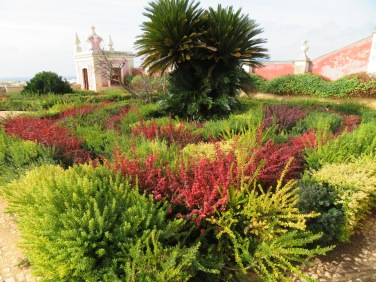 One of the many cultured beds in the gardens.