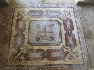 An old mosaic floor.