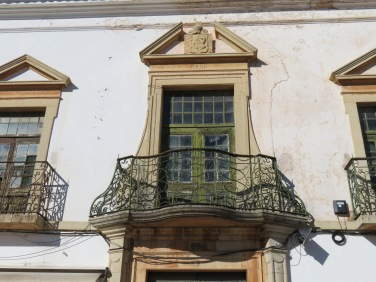 This lovely old balcony and window was right above us.