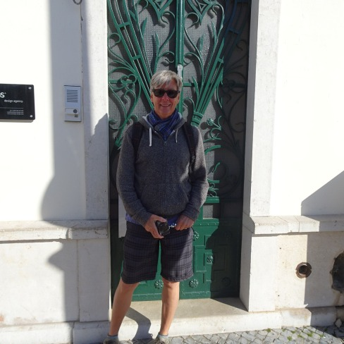 Yours truly in front of a lovely old door.