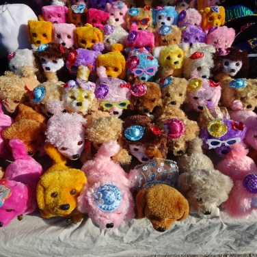 Plush toys are abundant and if you watch carefully, sell like hot cakes. I had to keep Marc away from them!!!!!