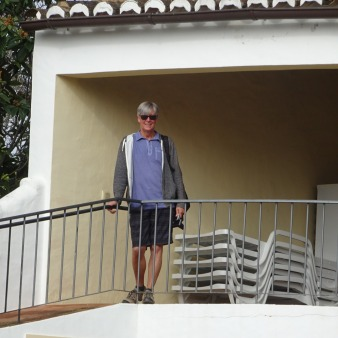 Me standing on the gazebo near the barbeque.