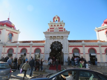 The main entrance to the market building