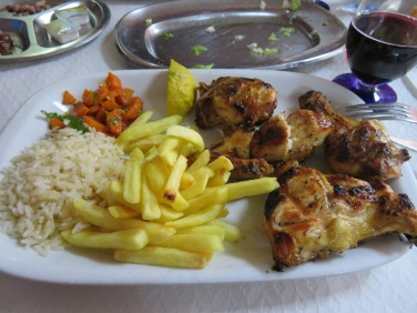 Frango......delicious, hot and moist. An additional dollop of piri piri made my lips hum!