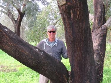 I always hug the cork tree to say thanks!