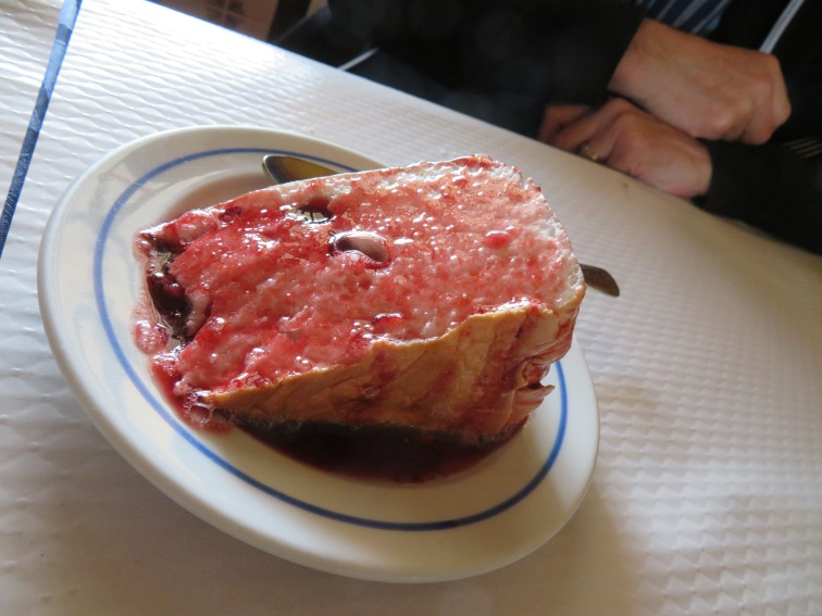 Molotov Flan, is a signature and very traditional egg white flan in Portuguese dessert making