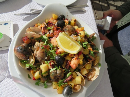 The house speciality Polvo Tasquinha....clams,octopus, etc.. Marc