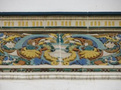 Detail of a doorway tile