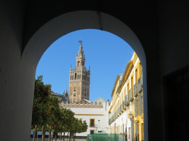 The Giralda is the bell tower of the Seville Cathedral