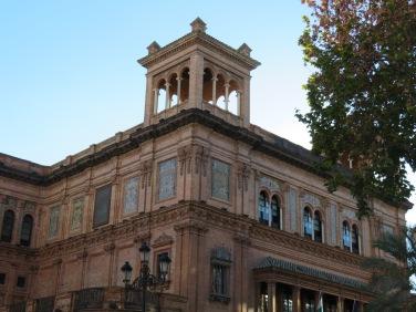 Walking around Seville and enjoying the beautiful buildings.