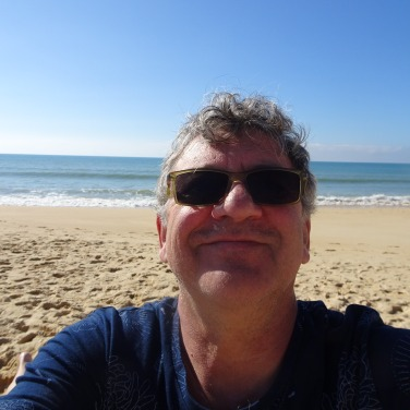 Mr. Selfie............sand and sunshine translates in SMILES
