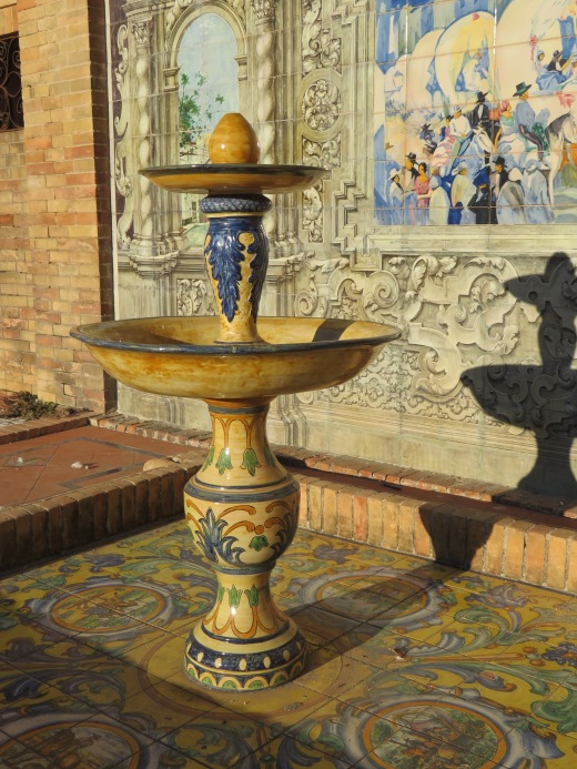 Beautiful fountains everywhere....every square inch covered in hand painted tiles.