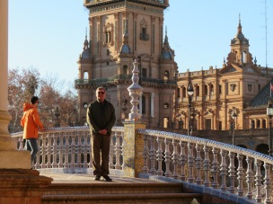 Look at the detail on the bridge railing, Marc didn't stop smiling the four days we were in Seville.