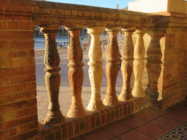 Some of the railing detail at the Plaza de España