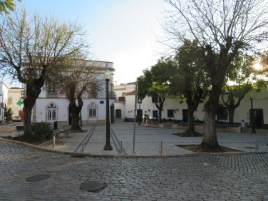 This is the main square in Estoi, moments from our apartment.