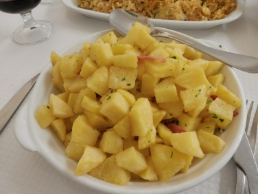 Fried potatoes, nicely salted