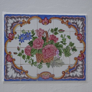 A tiled wall ornament.