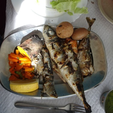 A very generous grilled fish platter for Françoise.