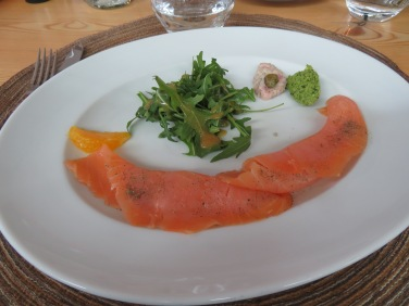 My starter, smoked salmon