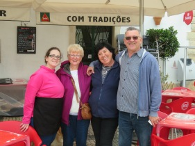 Elsa, Françoise, Ana and Marc.....we always enjoy our time spent at Ana's restaurant on the Church Square.