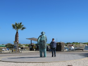 Two old fellas looking out to sea!! I'll pay for that remark