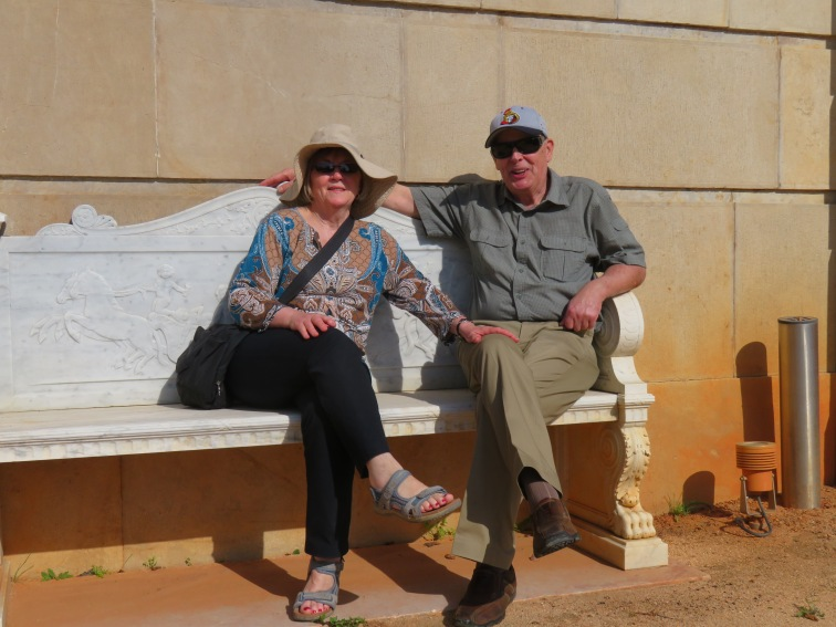 Enjoying a little rest at the Pousada gardens. They will have a little jet-lag for a day or so yet and for that reason, we'll take it easy.