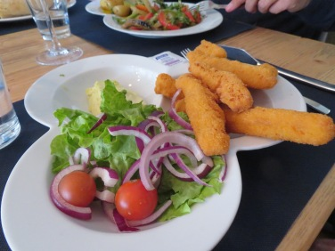 I believe this was breaded squid.