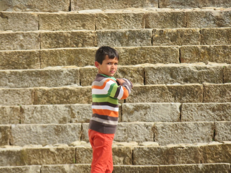 This little fellow entertained us with his immense energy bounding up and down the church steps.
