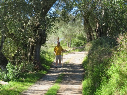 Marc and I headed into the mountains via an old farm road. So very many of them around which makes it great for choosing various locations for walking or hiking.