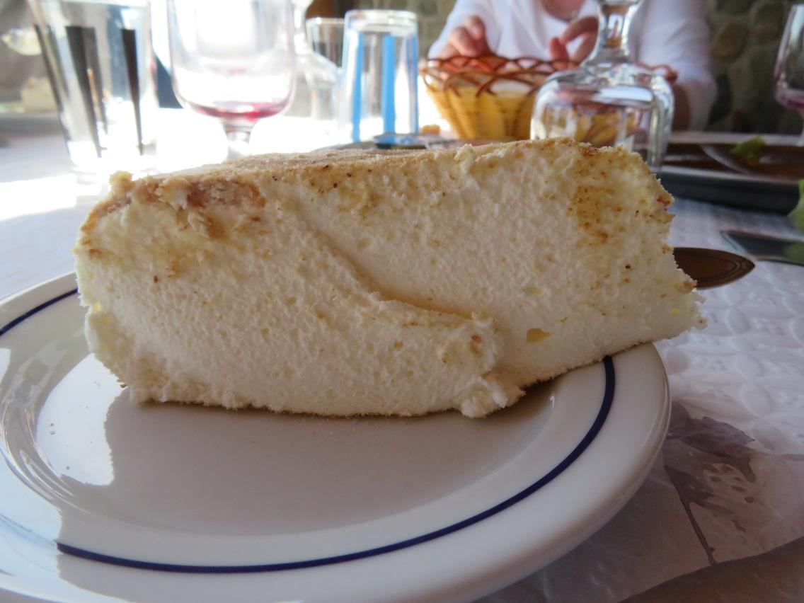 Baked cream.