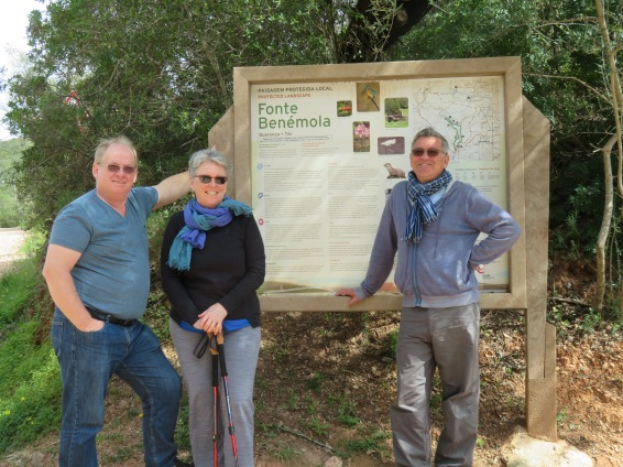 Gary, Pat and Marc.......geared up for a jaunty hike in the forest and fields of Fonte de Benemola