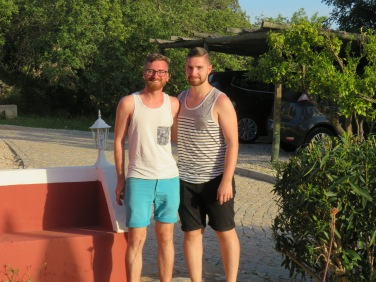 André et Guillaume........just back from a day at the beach and Tavira.....a birthday Guillaume will always remember.