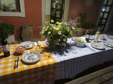 Carole's table setting.