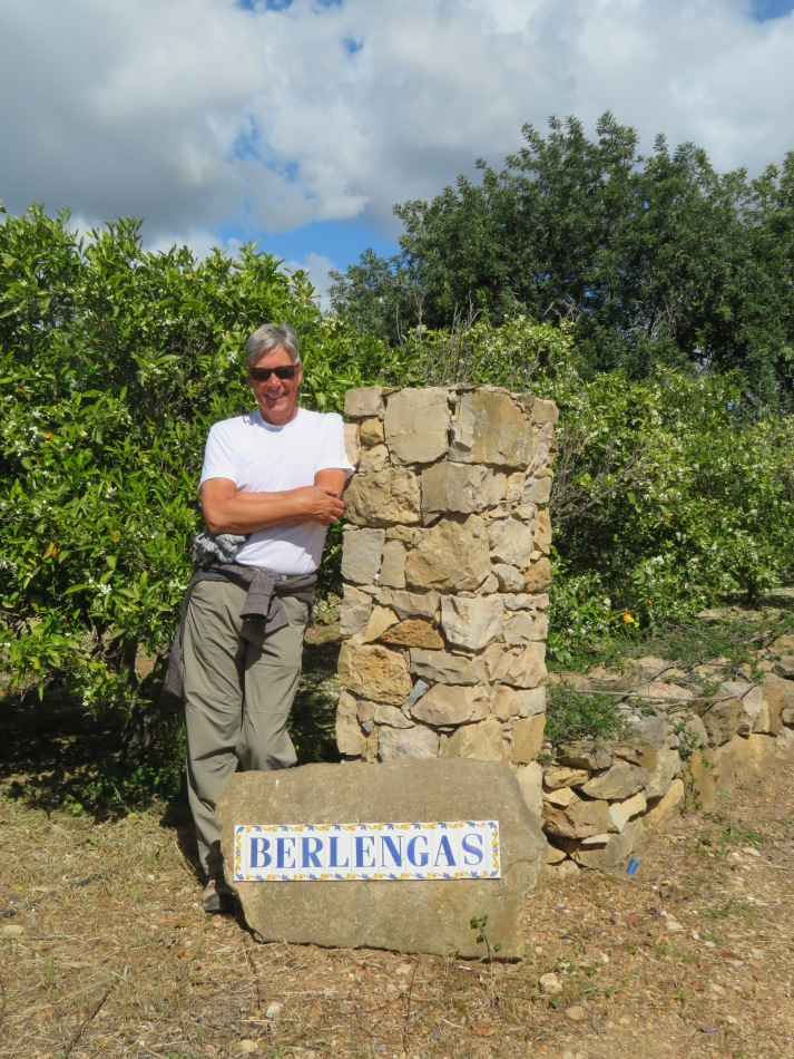 Here I am at the gateway to the farm.....my first ever home in Portugal and the place we will return to next Saturday.