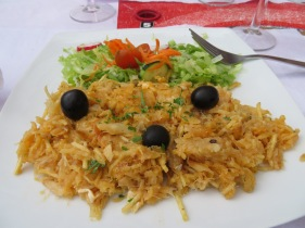 Bacalhau a bras..one of my favourite dishes in the Algarve.