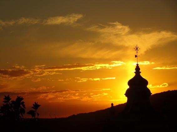 Our lovely sunset this evening.....merci mon mari!