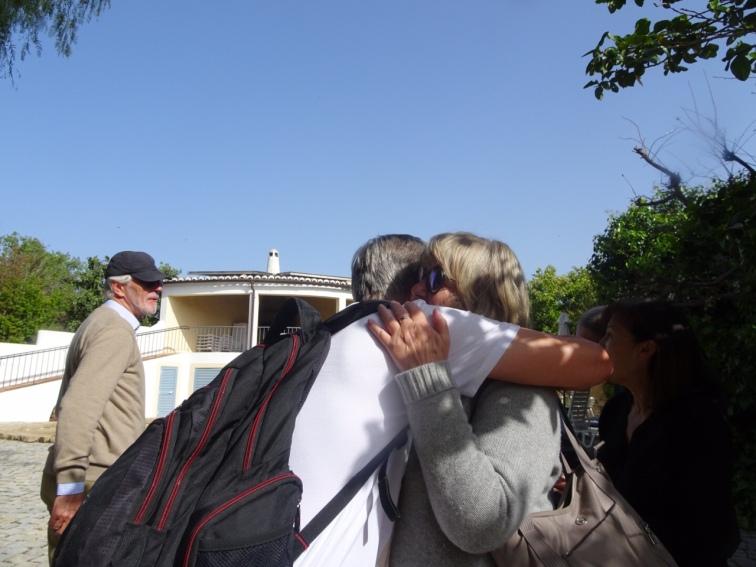 My final goodbye hug to Bela.