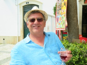 My happy man....enjoying a glass of sangria at Ana's.