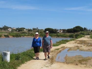 Enjoying the stroll, seabirds and sunshine.