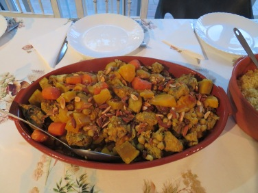 Pat M prepared an amazing meal for all of us. Chicken tagine.