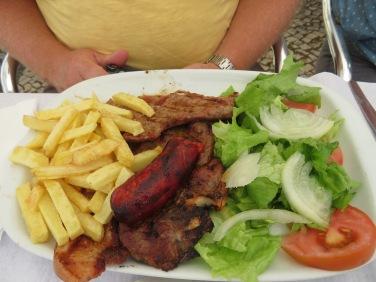 Gary a lovely mixed meat platter