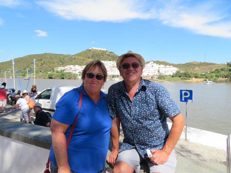 Two happy people!!! Spain in the background.